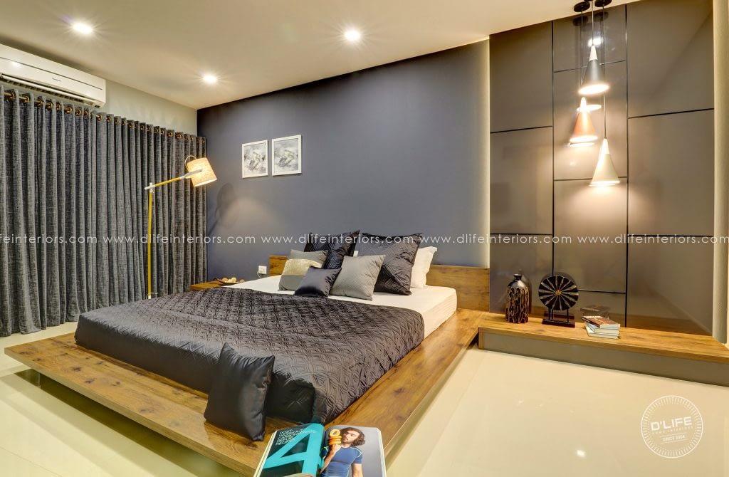 low floor bed bedroom interiors designers