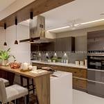 breakfast counter interior design in Trivandrum