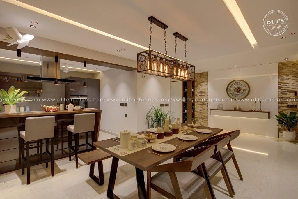 Dining-Room-at-Apartment-Purva-Grandbay-Kochi