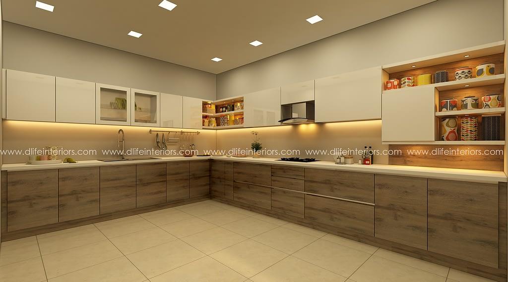 L shaped modular kitchen in chennai