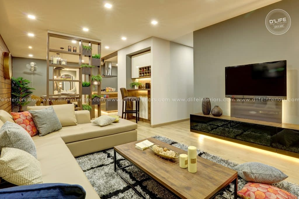 Living -Dining-Partition-Ideas-for-Indian-Homes-DLIFE-Designers-in-Kochi-Kerala-Bangalore