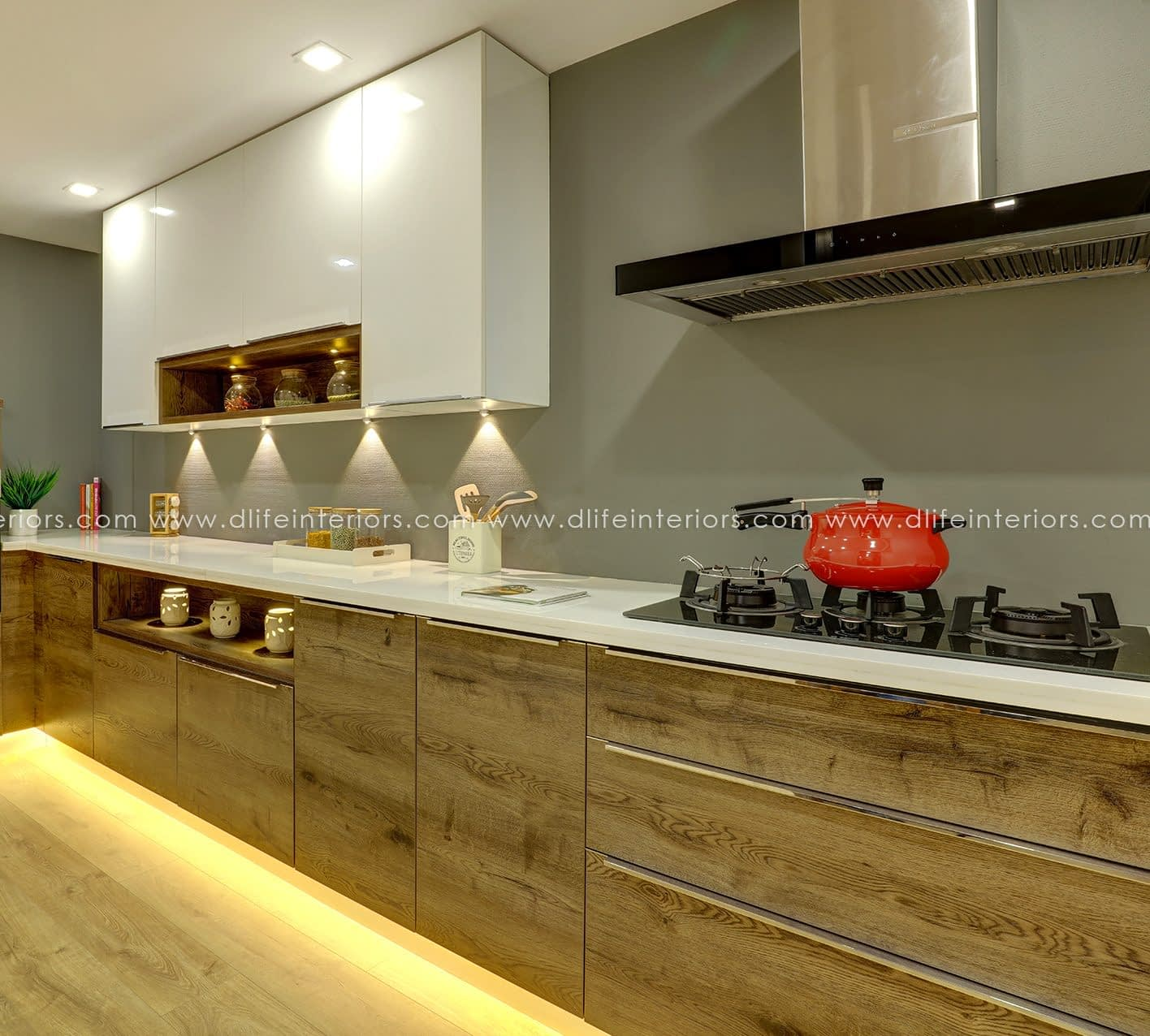 straight kitchen design for apartments