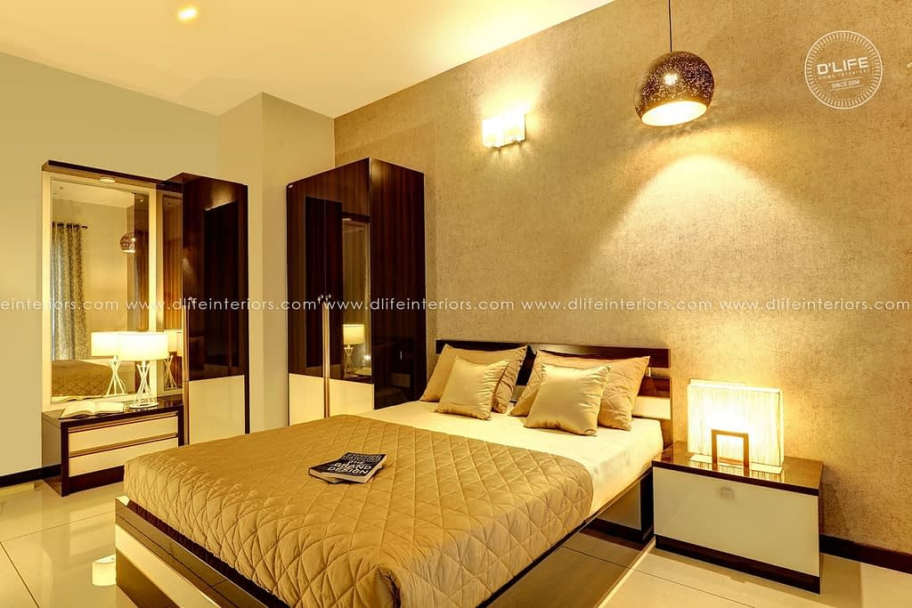 Bedroom-with-grand-lighting- dlife home interiors