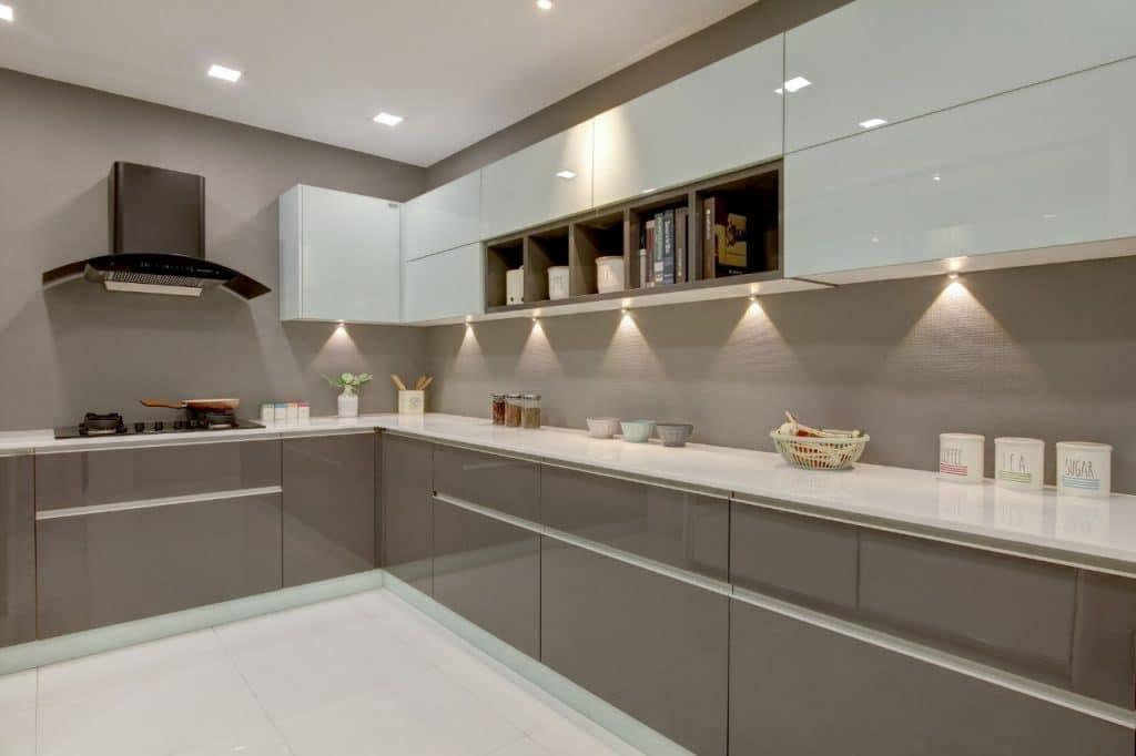 Modular-Kitchen-with-electric-chimney-Kerala