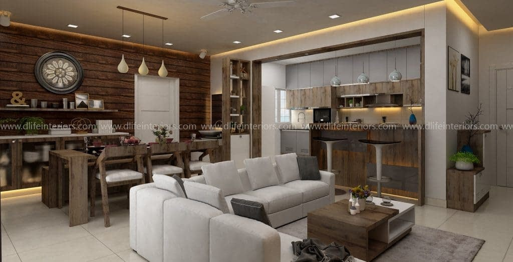 Beach-house-style-living-dining-kitchen-interiors-india