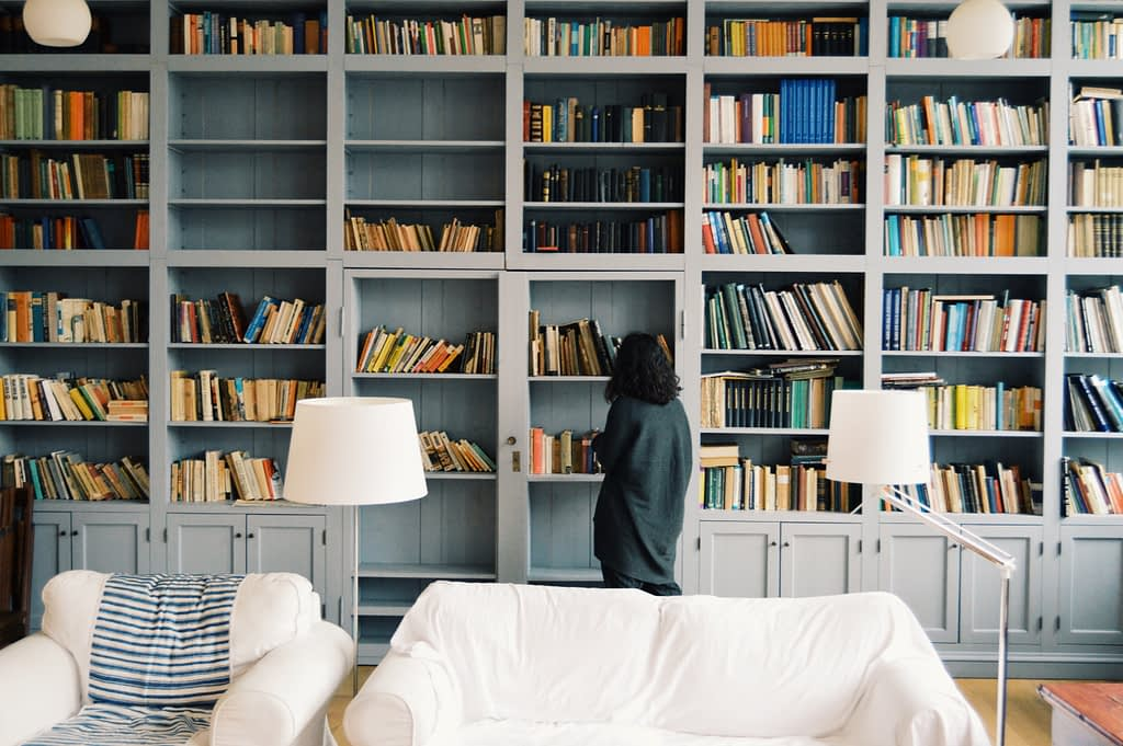 floor to ceiling home library design