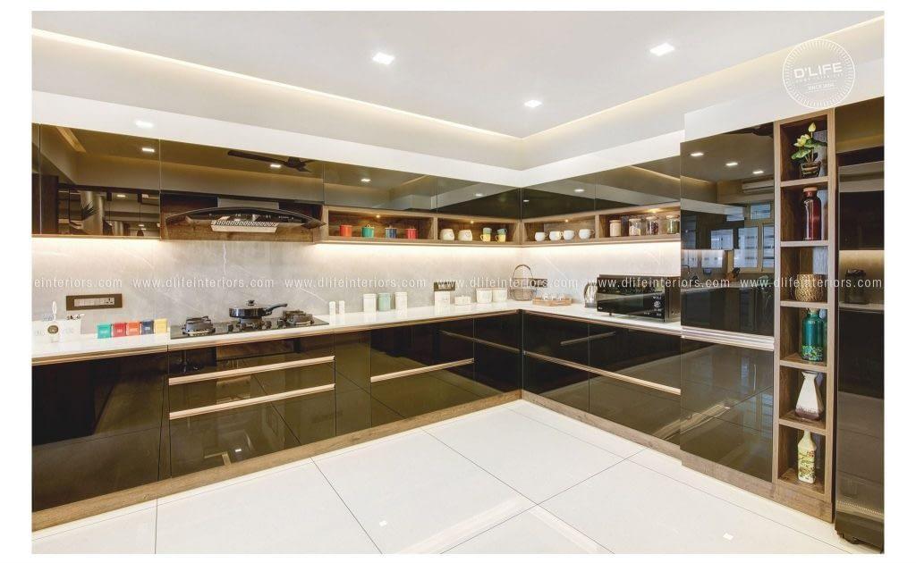 black kitchen design dlife kerala bengaluru chennai