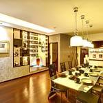 Dining-room-with-elegant-lighting
