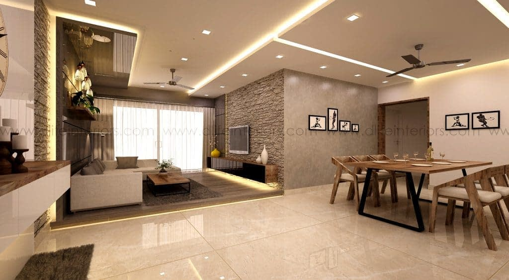 living-dining interior design